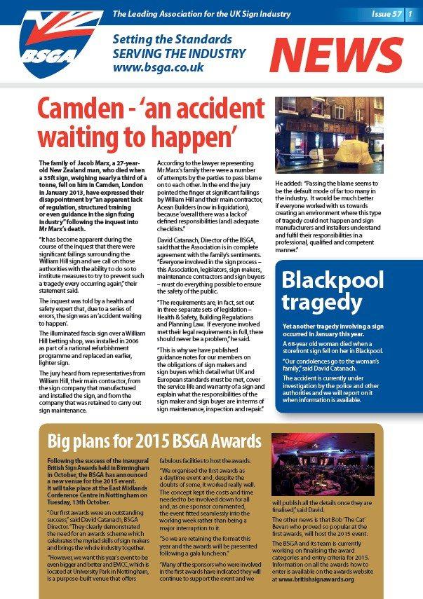 BSGA Newsletter 57