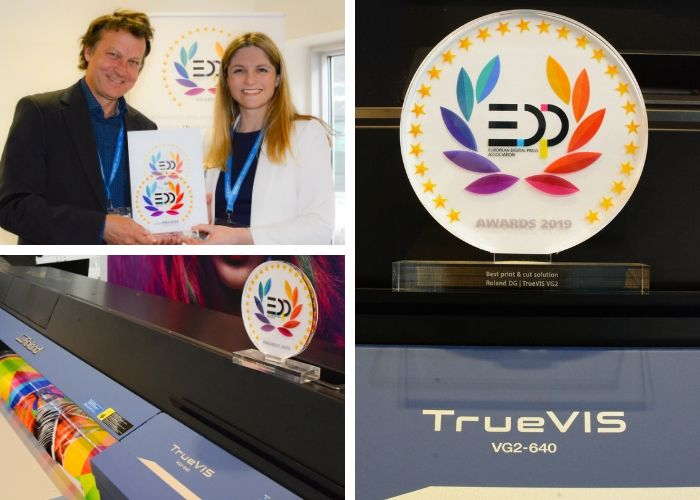 New Roland TrueVIS VG2 leads the print and cut field with EDP Award